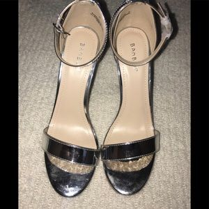 Sliver Ankle Strap Sandals